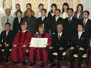 マレーシア前首相(第4代首相)マハティール・ビン・モハマド氏への名誉博士号贈呈式を挙行