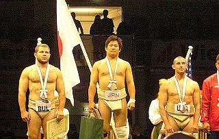 第16回世界相撲選手権大会で 島...